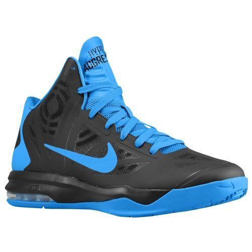Nike Air Max Hyperaggressor Men\u0027s Basketball Shoes Black/Photo Blue