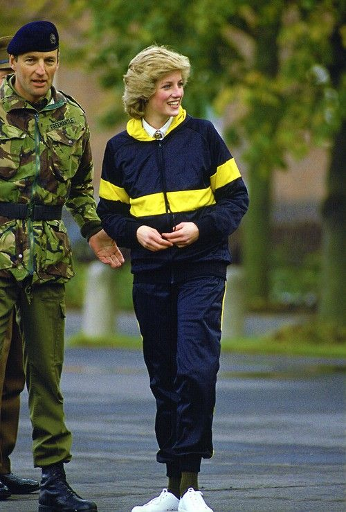 1985-10-19 Diana at the Royal Hampshire Regiment's Wavell Barracks in Berlin, Germany
