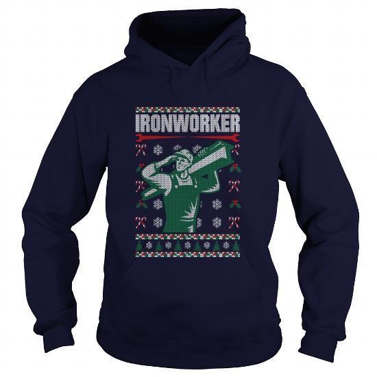 Ironworker Ugly Chritsmas Sweater Shirt Noel Merry Xmas Sweatshirt