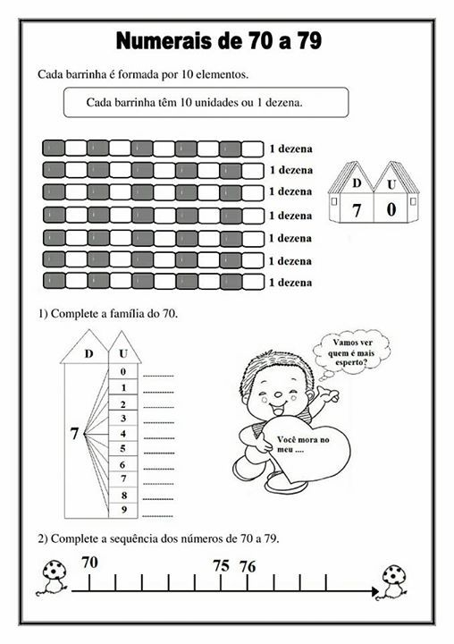 Atividade Aprendendo Os Numeros Volume 2 Com Imagens