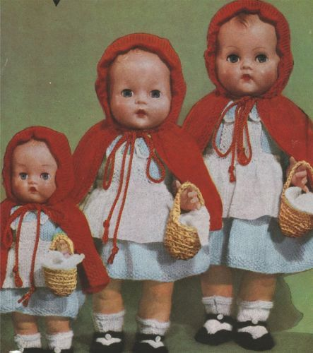 Knitting Pattern For Little Red Riding Hood Doll : Knitting Pattern Dolls Clothes 10