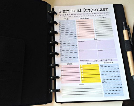 Personal organizer letter size and organizers on pinterest for Construction organizer notebook