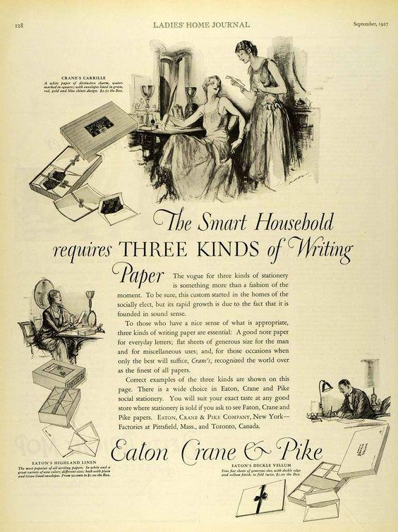 Crane writing paper