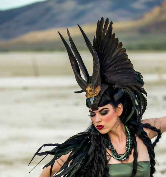Feather Headdress. This reminds me of the Egyptian Immortals in the Nicholas Flamel series by Michael Scott