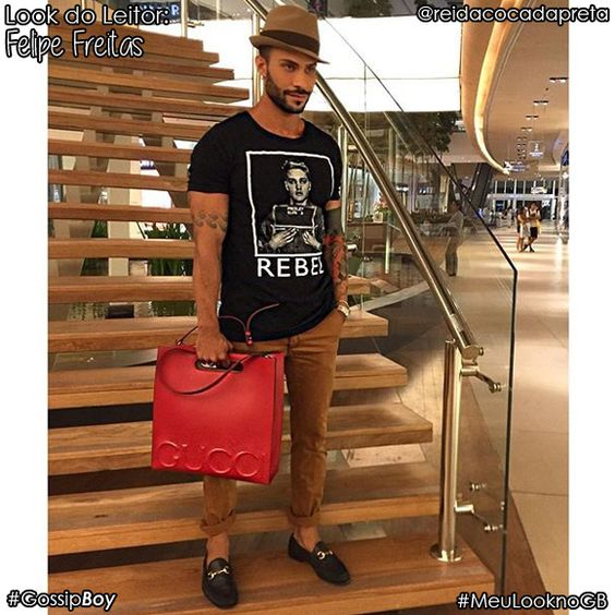 """Nosso terceiro """"Look do leitor"""" do mês de Março é Felipe Freitas do instagram @reidacocadapreta:"""