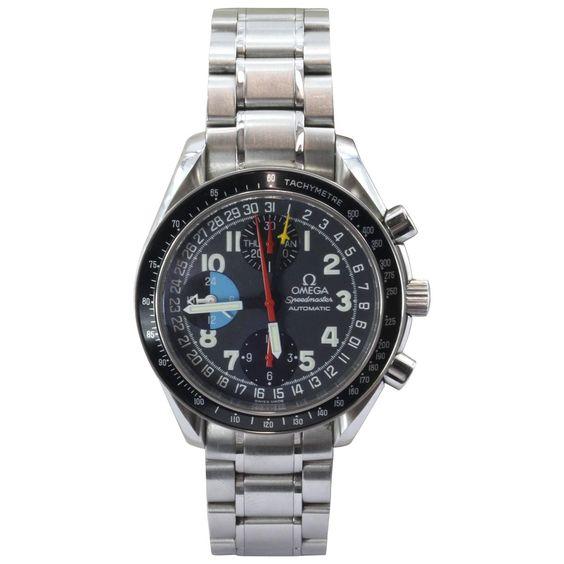 Omega Speedmaster GMT Automatic Mark 40 Chronograph Model 175.0084 Watch w/ box