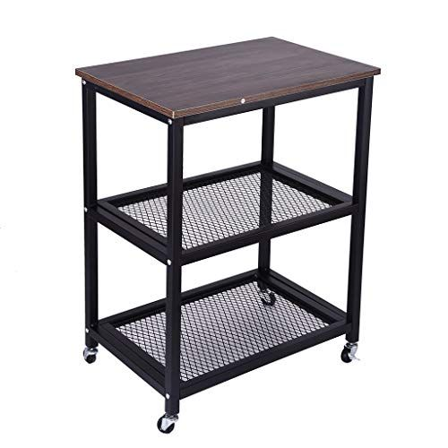 Fplhtop Industrial Serving Cart 3 Tier Kitchen Utility Cart On Wheels With Storage For Living R Kitchen Utilities Kitchen Utility Cart Computer Desks For Home