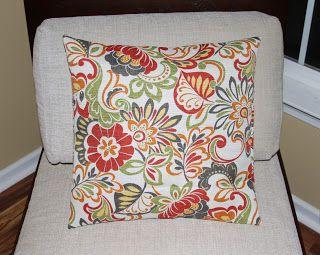 Made by Lena: Tutorial Tuesday: DIY Pillow Cover