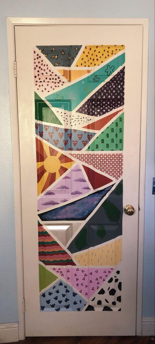 Door Painting Bedroom Art Painting Painted Doors Diy Art Painting