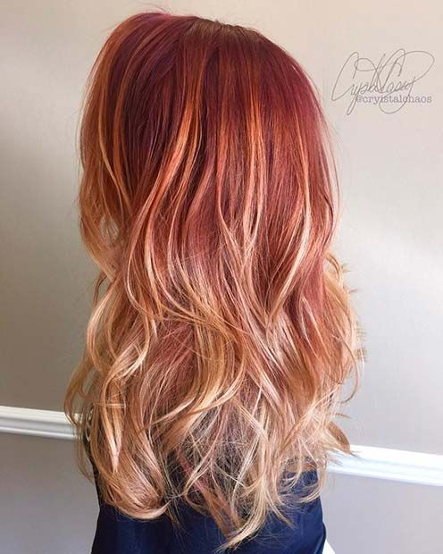 43 Most Beautiful Strawberry Blonde Hair Color Ideas Page 2 Of 4 Stayglam Strawberry Blonde Hair Color Ombre Hair Blonde Blonde Hair Color