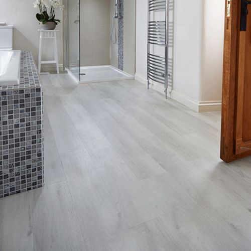 Karndean van gogh vinyl flooring white washed oak for Grey wood floor bathroom
