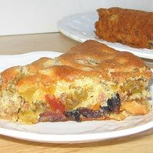 Lithuanian Easter Gypsy Pie or Velyku Pyragas Cigonas This recipe for Lithuanian Easter Gypsy Pie or velkyu pyragas cigonas is a type of flat fruit cake that is made with a sponge cake batter and, thus, with a lighter texture than conventional fruit cakes.