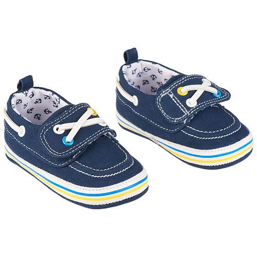"Koala Baby Boys' Navy Anchor Print Soft Sole Boat Shoes - Babies R Us - Babies ""R"" Us"