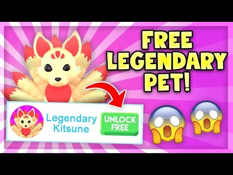 How To Get A Free Legendary Kitsune Pet In Adopt Me Roblox Adopt Me Youtube Roblox Cool Toys For Girls Kitsune