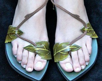 Hand painted butterfly sandals by pendragonshoes on Etsy