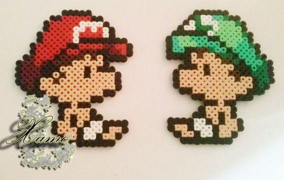 Mario & Luigi babies - Hama perles Midi