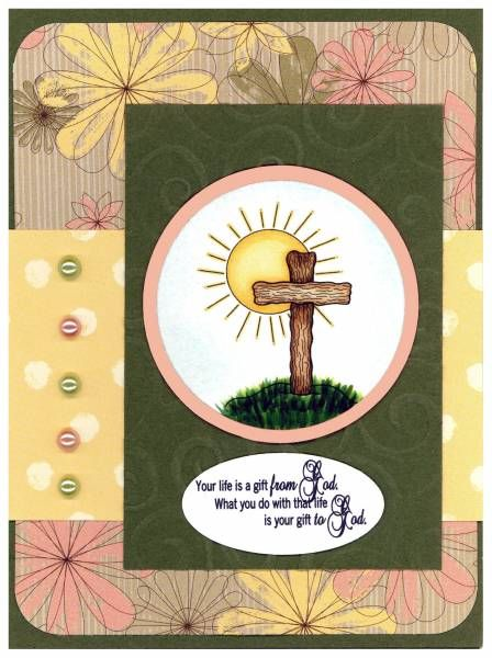 SC426 Your Life  Stampin' Up!, Easter, Cross