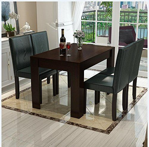 Wv Leisuremaster 5 Piece 120cm Walnut Wood Dining Table Set4