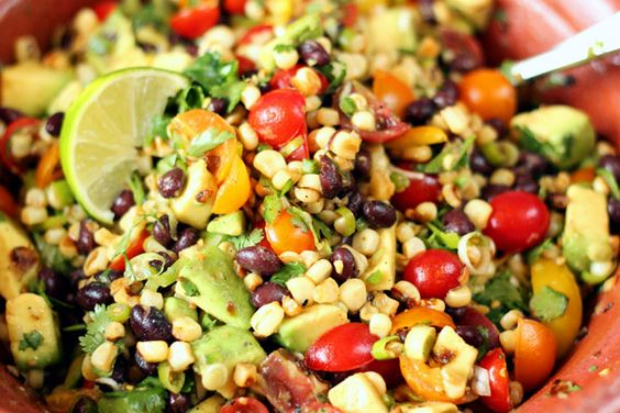 Corn salads, Grilled corn salad and Lime dressing on Pinterest