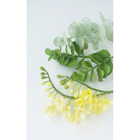 #freesia #eucalyptus #petalsweet #sugarflowers