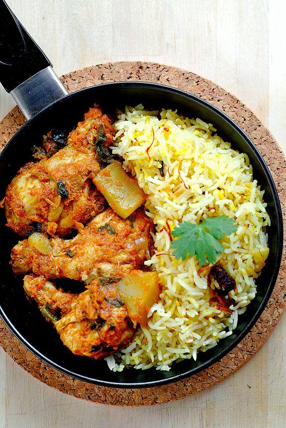 Tomato Spice Chicken And Olive Oil Biryani