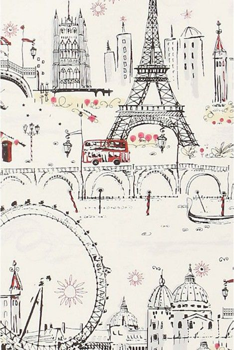 paris paris paris: Powder Room, Iphone Wallpaper, Paris London, Paris France, Parisian Wallpaper, Paris Wallpaper, Paris Illustration, Girl Rooms