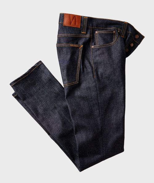 Nudie JeansGrim Tim Jeans $180.00 at harryrosen.com  A classic look from Nudie, these dark wash jeans are worth stocking up on. In organic cotton with a hint of stretch, they look great with a simple v-neck tee, but can also be dressed up for the office. Try them with deep brown brogues and a patterned soft jacket.  thegentlemanssalon.tumblr.com