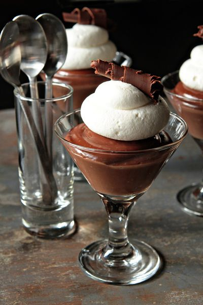 Homemade Chocolate Pudding with Baileys Irish Cream