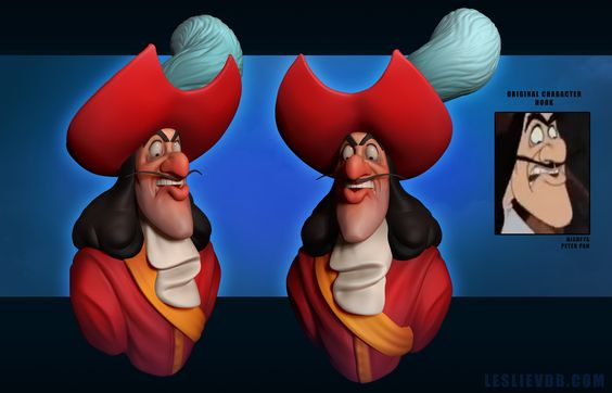 """Hook"" - 3D model by Polycount user Ravenslayer. Daily Disney Doodles - Polycount Forum"