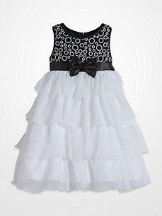 Princess Faith White Ruffled Dress