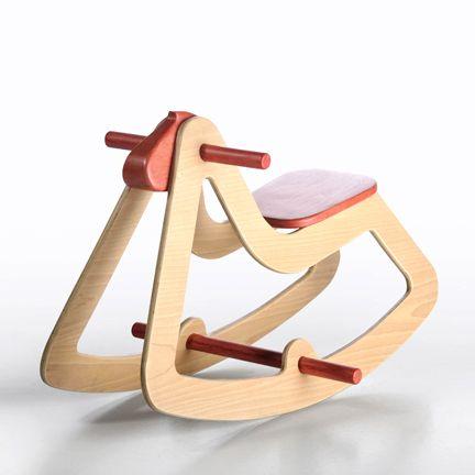 Schaukelstuhl Rennrad schönes Design Holz
