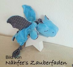 Nähanleitungen Baby - Schnuffeltuch HippoDrache e-Book - ein Designerstück von monsta-bella bei DaWanda