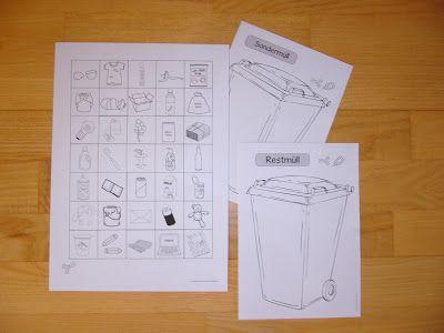 """Ideenreise: Ausschneidebogen """"Müll sortieren"""",  passend zum Earth Day/Tag der Erde"""