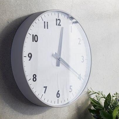 Wall Clock Grey – Large