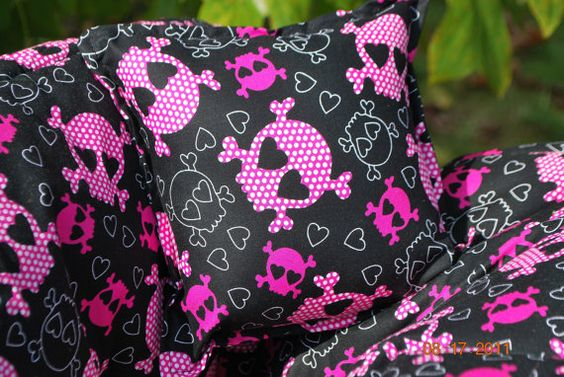 Shopping Cart Cover Skull Hearts Boutique by ThreeLittleMiracles, $70.00 if i had a girl this would so be hers!!!