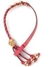 Alexander McQueen - woven skull bracelet