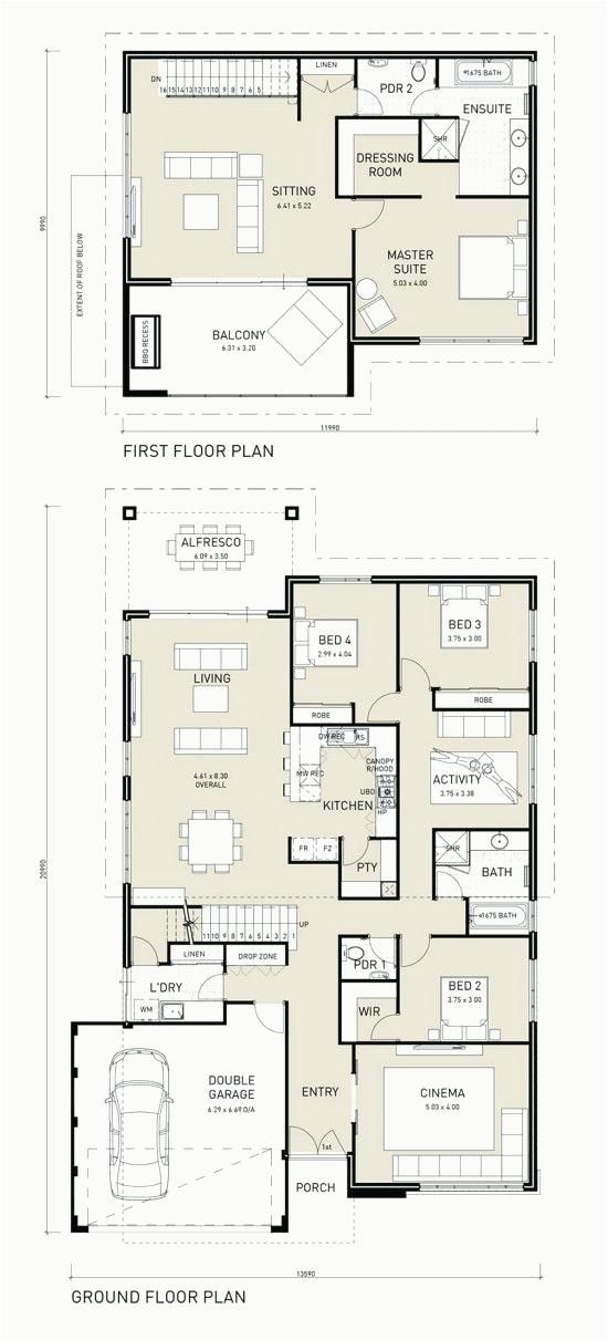 4 Bedroom House Plans Without Garage Two Storey House Plans House Layout Plans Floor Plans