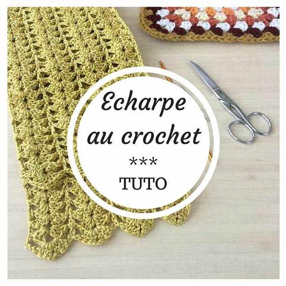 Tuto echarpe printani re au crochet sp cial d butant - Modele poterie pour debutant ...