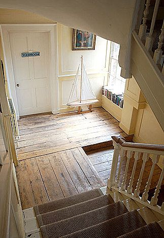 Wooden floor in hall