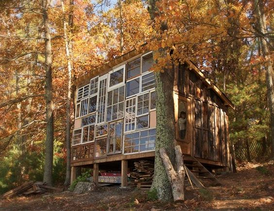 Windows cabin: Wall Of Windows, Designer Lilah, Awesome House, West Virginia, Dream Home, Cabins Treehouses, Cabin Windows, Treehouse Windows