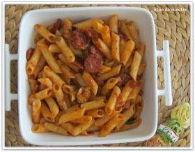 Macarrones con chorizo a la siciliana