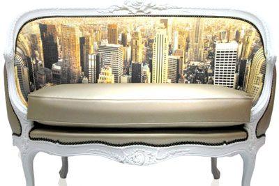 Digital Prints On Baroque Chairs and Sofa: