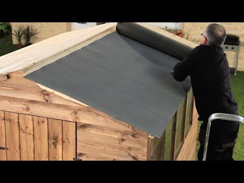 How To Felt A Shed Roof Refelting A Shed Roof Garden Ideas Tips Homebase In 2020 Shed Roof Design Shed Roof Repair Shed Roof Felt
