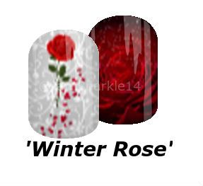 #winter #rose #floral #rosepetals #roses #sparkle #mixedmani #nails #nailart #jamberry #nas #rebeckapearsonjn