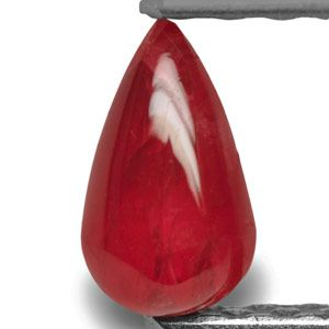 0.78-Carat Bright Red Unheated Briolette-Shaped Vietnamese Ruby