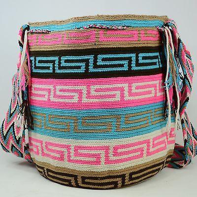 Подлинные Большие WAYUU маленькая сумка 100% колумбийский, богемный Hobo лучших ручной работы 1238