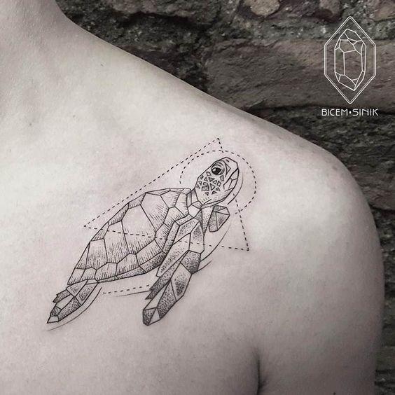 #Turtle #Tattoo by artist Bicem Sinik