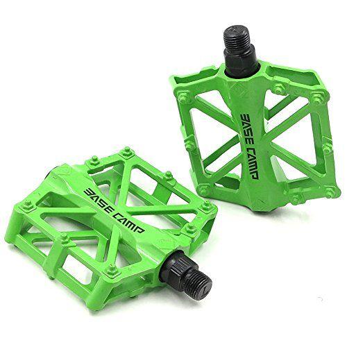 Dmcark Flat Pedals Mountain Bike Pedals Platform Lime Green