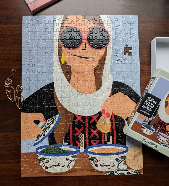 Zeit w Za'atar Puzzle Jigsaw Puzzle illustration kids   Etsy