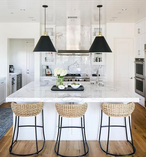12 Best Modern Farmhouse Bar Stools Interior Design Kitchen